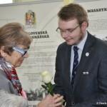 Aleš Procházka (Svornost) s paní Radkou Křivánkovou, výstava ČsOL, 2014