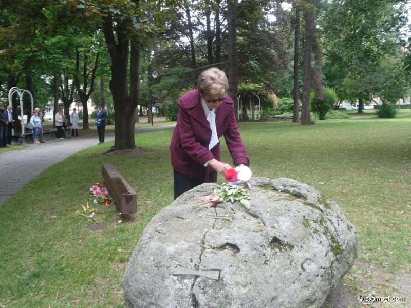 Paní Křivánková na Uctění památky obětí komunistického režimu - 27. června 2015, Písek