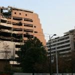 budovy poškozené bombardováním - foto Svornost 2009